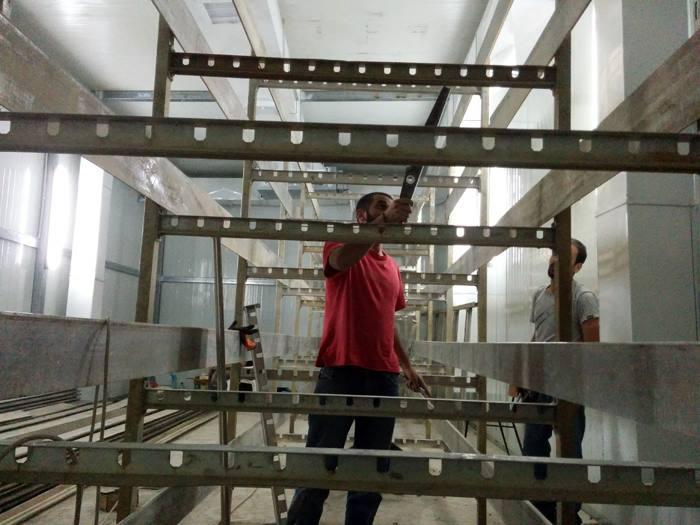 Construction of Amoro farm.